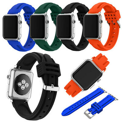 Replacement Silicone Sport Bands Strap for Apple Watch Series 4 3 2 40/44/38/42