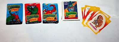 DINOSAURS ATTACK 1988 TOPPS TRADING CARDS FULL SET 55 +11 + 3 open waxpacks