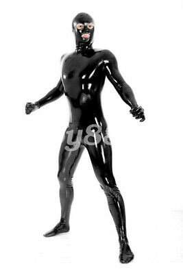 Latex Catsuit Herren100% Rubber Gummi Sexy Hip Cosplay Bodysuit 2019 New S-XXL