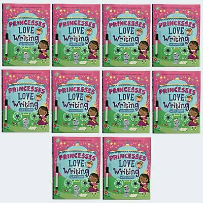 Wipe Clean Early Learning Princesses Love Writing Bundle of 10 Books Ages 3+ New