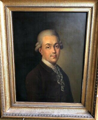 LARGE ANTIQUE OLD MASTER PORTRAIT - 18th Century with Provenance - NO RESERVE
