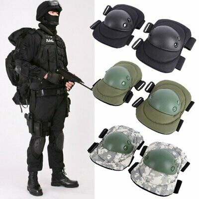 4PCS Outdoor Elbow Knee Protective Pads Combat Tactical Military Protector Gear