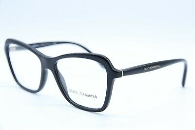 aee45a04ded1 New Dolce   Gabbana Dg 3263 501 Black Authentic Eyeglass Frame Dg3263 Rx  54-16