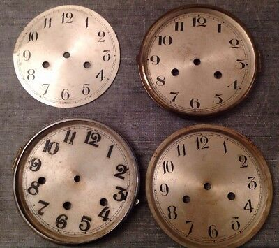 Antique Clock Dials Bezels Faces 147-160mm Diameter Ex Clockmakers Spare Parts
