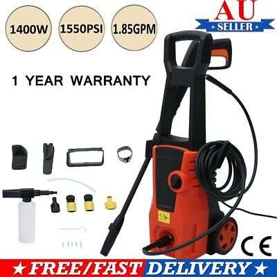 PRO 1550 PSI High Pressure Water Cleaner Washer Electric Pump Hose Gurney