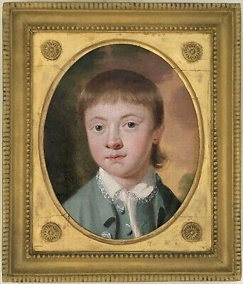 Portrait of a Boy Antique Oil Painting Late 18th / Early 19th Century British