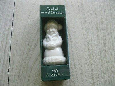 Goebel 1980 Annual Ornament 3rd Edition Solid White West Germany Vintage Girl