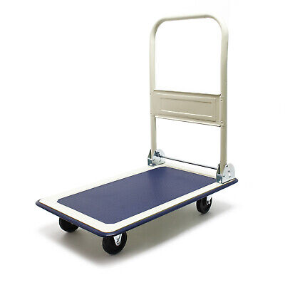 Platform Hand Trolley Truck Sack Cart Flat Bed Heavy Duty Transport max 300kg