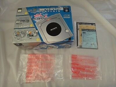 Nintendo GameCube GameBoy Player Silver Enjoy Plus Empty Console Box & Inserts