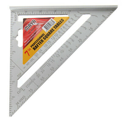 Triangle Ruler Woodworking Measuring Quick Read Square Layout Tool 7 Inch