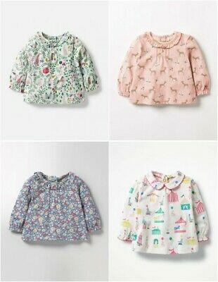 Baby Girls Peter Pan/Pretty Collar New Ex Mini Boden Top T-Shirt 0-4y Fairytale