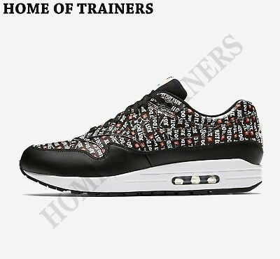 quality design 4999e 45134 Nike Air Max 1 Premium Just Do It Blanches Noires HOMME