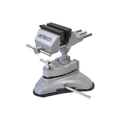 Suction Table Vice 70mm Jaw Adjustable Head Position Swivel Clamp Crafts Hobbies