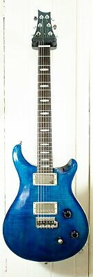 Superb Blue Quilted Prs Style Guitar Mahogany Body Big Maple Top Freestyle