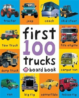 Children Books Early Learning Board Books First 100 Trucks Soft to Touch Book UK