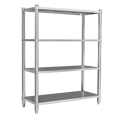 Shelving unit heavy duty stainless steel storage catering kitchen 120x50x155cm