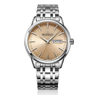 Dreyfuss Mens Classic Stainless Steel Strap Watch DGB00125/25