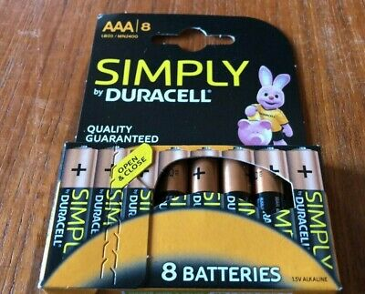 8 x Simply Duracell AAA LR03/MN2400 Batteries - FREE UK POSTAGE