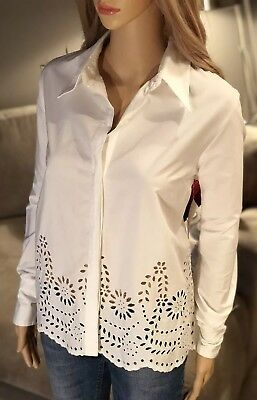f224f39ec3817 NWT ALLISON DALEY White Eyelet Shirt Top~button front sleeveless~100 ...
