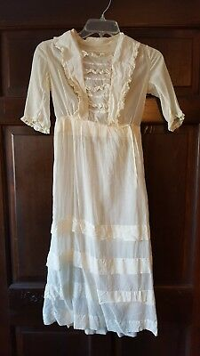 Girls white Victorian dress
