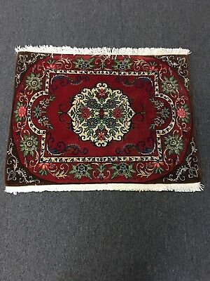 On Sale Great Fine Hand Knotted Persian Area Rug Floral Red Carpet 2x3,#24137