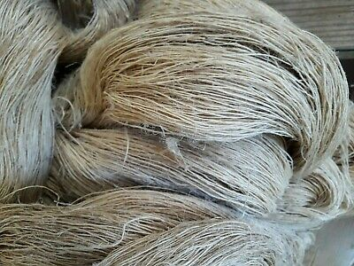 LOT D'ANCIENS ECHEVEAUX DE CHANVRE BRUT 3,9Kg OLD HEMP THREAD