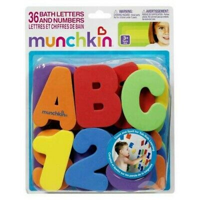 36 Munchkin Bath Foam Letters and Numbers Bath Time Fun Learning Toy