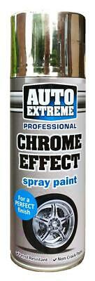 1 x 400ml Chrome Effect Spray Paint Aerosol Can Auto Extreme Car Van Bike Etc..