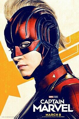 Captain Marvel movie poster (h)  Brie Larson  - 11 x 17 inches