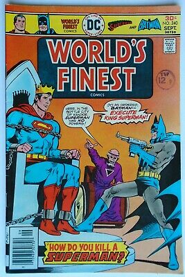 World's Finest Comics Vol 1 #240 September 1976 (Nm Condition)
