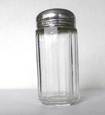 1880 Victorian Round Glass Jar With Sterling Silver Top