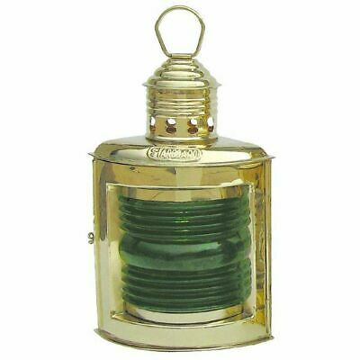 Starboard Lamp, Positions-Lampe Petroleum, Maritime Right Ship Lantern Green