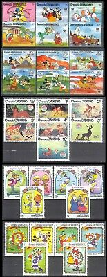 Walt Disney Cartoon - Lot of 55 different stamps - Mint Never Hinged-MNH (2 pic)