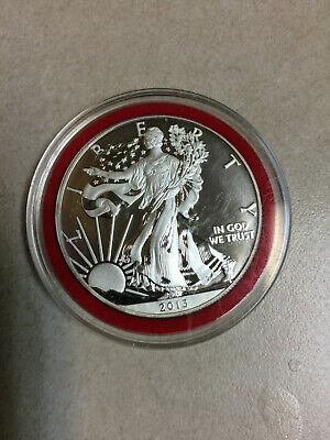 2013-W Silver American Eagle Enhanced Proof in BU condition in Capsule