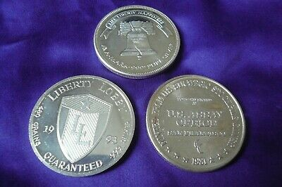 Lot of 3 Vintage 1 Troy oz .999 Silver Rounds Coins Assay Office A-Mark (112)