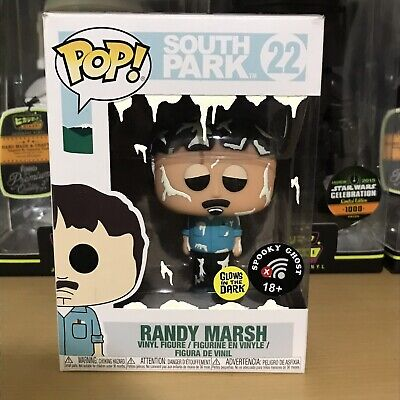 Funko Pop South Park Randy Marsh 22 CUSTOM Spooky Ghost Glows In The Dark