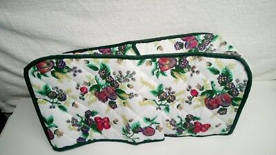 Luscious Fruit Quilted Fabric 4-Slice Toaster Cover NEW