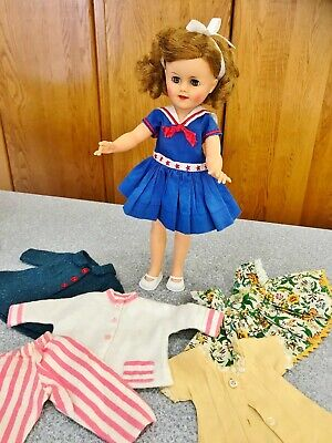 Vintage 1950's Ideal Shirley Temple ST 15 Vinyl Doll 8 pc Orig Sailor Dress 15""
