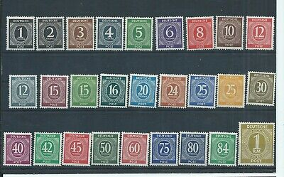 Germany Allied Occupation stamps. 1946-47 Numerals set MNH (D986)