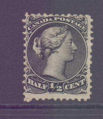 CANADA SG46 0.5c Black Large Head Queen with lack of cancel - Unused?