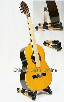 New Foldable Bass Guitar Stringed Music Instrument Floor Stand Holder,US SELLER