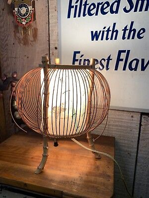 Vintage Mid Century Bamboo Japanese Style Lamp Works Great