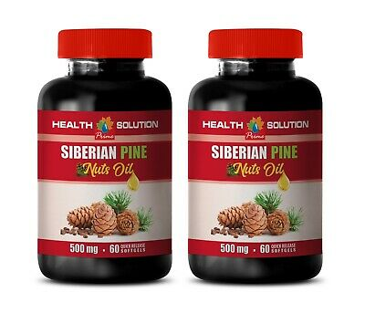 anti inflammatory - Siberian Pine Nut Oil 500mg - powerful antioxidant 2B