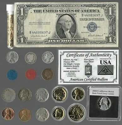 Silver Dollar Barber Mercury Liberty Indian War Rare Old US Coin Collection Gold