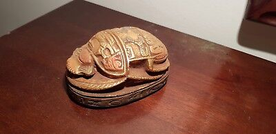 Rare Antique Ancient Egyptian Scarab Good Luck God Anubis magic words1650-1580BC