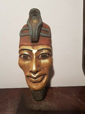 Rare Antique Ancient Egyptian King Akhenaten Mask 1st worship1god Sun1353–1336BC