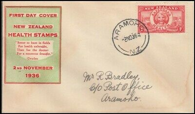 New Zealand 1936 Health Illustrated Fdc (Id:16/d30444)