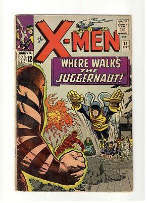 X-Men #13 FN- 2nd Appearance of The Juggernaut. Human Torch Appearance VG