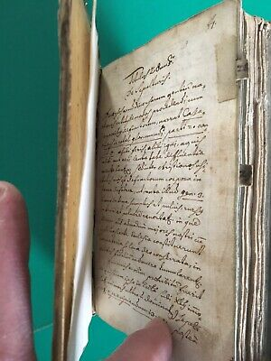 Rare Vellum Bound Handwritten 17th Century Latin Religious Catholic Manuscript