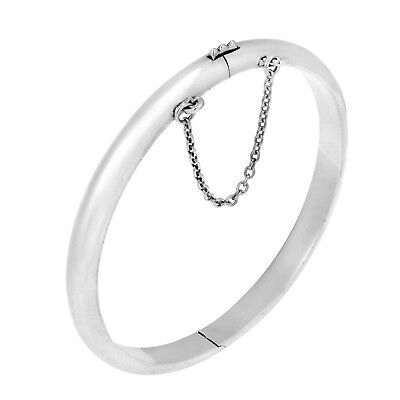 45MM Diameter/925 Sterling Silver Baby Plain Bangle, width/5MM, , Weight 7.3g